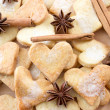 Stock Photo: Sweet heart shaped sugar cookies