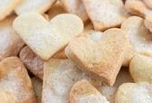 Słodkie serca kształcie cookies cukru — Zdjęcie stockowe