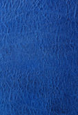 Blue leather background or texture — Stock Photo