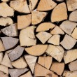 Pile of wood logs ready for winter — Stock Photo #40517171