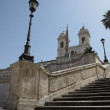 Spanish Steps, Rome, Italy - Stock Photo