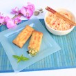 Asian spring rolls — Stock Photo