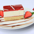 Strawberry curd cheese cake — Stock Photo #13079737