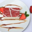 Strawberry curd cheese cake — Stock Photo #13456840