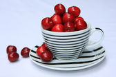 Still life with cherries in a cup — Stock Photo