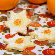 Stock Photo: Christmas cookies, orange flavored stars