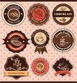 咖啡 & 巧克力标签 — 图库矢量图片
