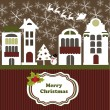 Merry Christmas Card — Vector de stock