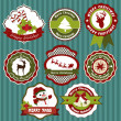 Labels collection of Christmas — Stock Vector #13671602