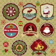 Labels collection of Christmas — Vector de stock