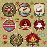 Yılbaşı koleksiyonu etiketleri — Stok Vektör