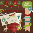 Cute scrapbook element of Christmas — Stock vektor