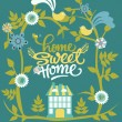 Home sweet home card - Imagens vectoriais em stock