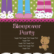 Stock Vector: Sleepover Party Card