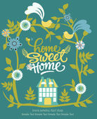 Home sweet home card — Stock Vector