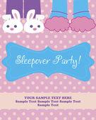 Sleepover Party Card — Stock Vector