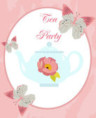 Tea Party card — Stock Vector