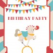 Circus Happy Birthday card — Stock Vector #25135775
