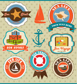 Journey labels — Stock Vector