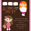 Stock Vector: Slumber party