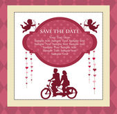 Save the date card — Stock Vector