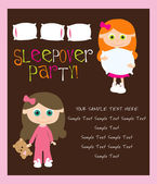 Slumber party — Stock Vector
