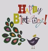 Happy Birthday card — Vector de stock