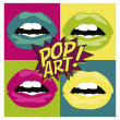 Pop art card — Stock Vector