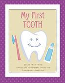 Tooth Fairy card — Stock Vector