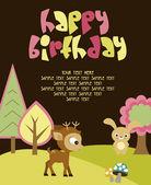 Happy Birthday card — Stock vektor