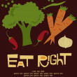 Eat right card — Image vectorielle
