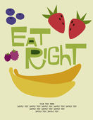 Eat right card — Vettoriale Stock