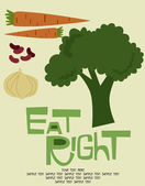 Eat right card — Stock Vector