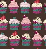 Sweet collection pattern — Vector de stock