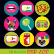 Pop art card — Vector de stock #26468245
