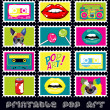 Pop art card — Vettoriali Stock