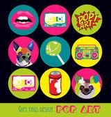 Pop art card — Stock Vector