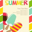 Retro ice cream poster — Vector de stock #26595895