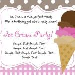 Retro ice cream poster — Stock Vector