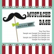 Stock Vector: Mustache bash card