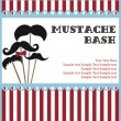 Mustache bash card — Stock Vector #27049375