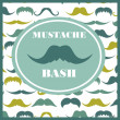 Mustache bash card — Stock Vector #27049377