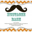 Mustache bash card — Stock Vector #27049387