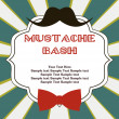 Mustache bash card — Stock Vector #27049393