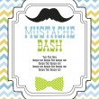 Mustache bash card — Vector de stock #27049397