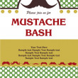 Mustache bash card — Stock Vector #27049401