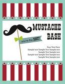 Mustache bash card — Stock Vector