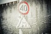 Speed limit — Stock Photo