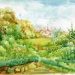 Watercolor Landscape Collection — Stock Photo #13280248