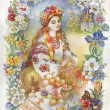 Painting Collection: Easter slavic tradition — Stock Photo